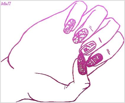 Как нарисовать маникюр на бумаге